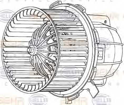 Вентилятор салона HELLA 8EW 351 040-251 - изображение