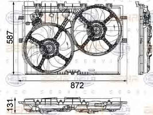 Вентилятор охлаждения двигателя HELLA 8EW 351 041-451 - изображение