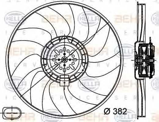 Вентилятор охлаждения двигателя HELLA 8EW351044-351 - изображение