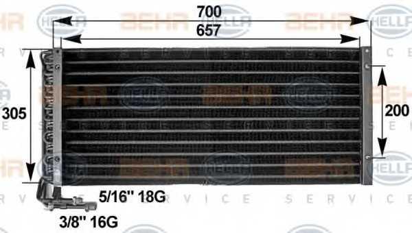 Конденсатор кондиционера HELLA 8FC 351 300-061 - изображение