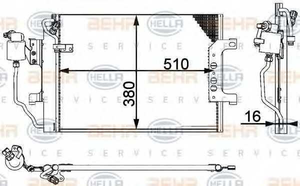 Конденсатор кондиционера HELLA 8FC 351 301-361 - изображение