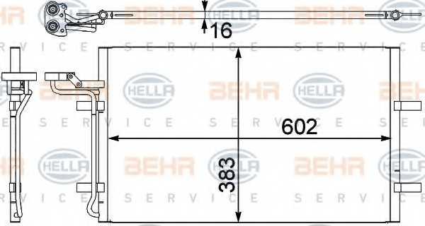 Конденсатор кондиционера HELLA 8FC 351 302-571 - изображение