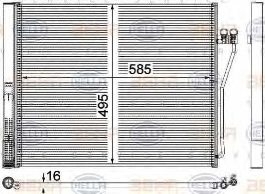 Конденсатор кондиционера HELLA 8FC 351 309-151 - изображение