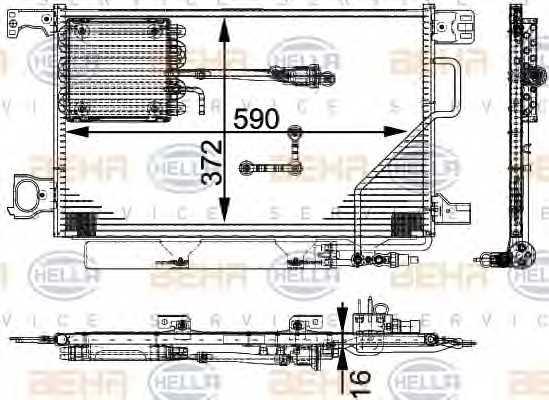 Конденсатор кондиционера HELLA 8FC 351 317-491 - изображение