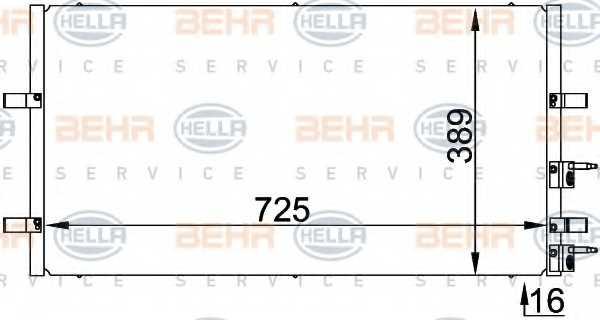 Конденсатор кондиционера HELLA 8FC 351 318-411 - изображение
