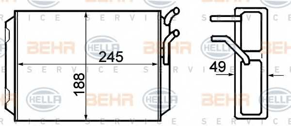 Радиатор отопления салона HELLA 8FH 351 308-761 - изображение