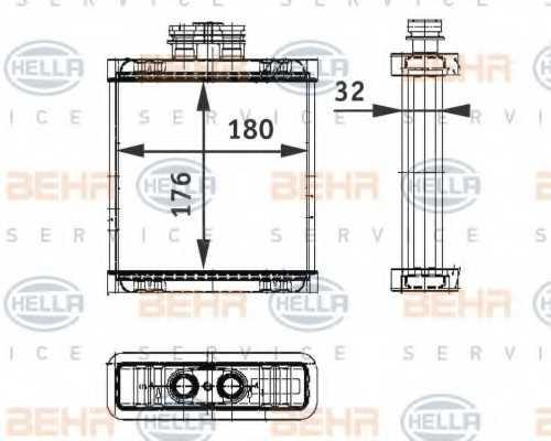 Радиатор отопления салона HELLA 8FH 351 311-111 - изображение