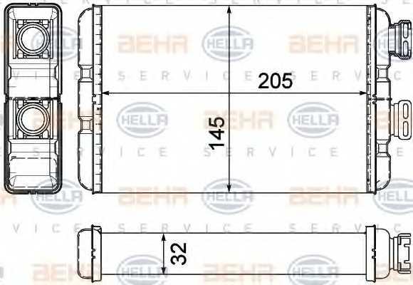 Радиатор отопления салона HELLA 8FH 351 311-321 - изображение