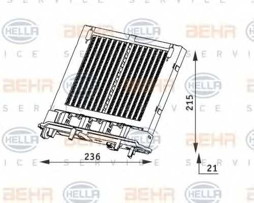 Радиатор отопления салона HELLA 8FH 351 312-111 - изображение