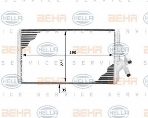 Радиатор отопления салона HELLA 8FH 351 312-381 - изображение