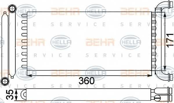 Радиатор отопления салона HELLA 8FH 351 313-571 - изображение