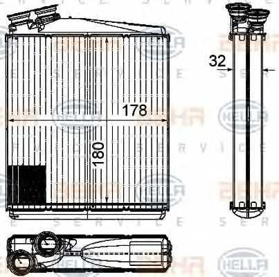 Радиатор отопления салона HELLA 8FH351315-541 - изображение