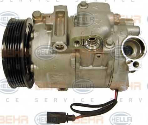 Компрессор кондиционера для AUDI A2 / SKODA FABIA, ROOMSTER / VW BORA, FOX, GOLF, LUPO, POLO <b>HELLA BEHR SERVICE Version ALTERNATIVE 8FK 351 110-241</b> - изображение