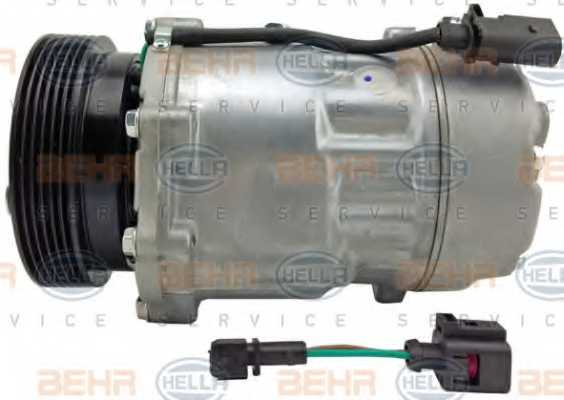 Компрессор кондиционера для AUDI A3, TT / FORD GALAXY / SKODA OCTAVIA / VW BORA, CADDY, GOLF, NEW BEETLE, POLO, SHARAN <b>HELLA BEHR SERVICE 8FK 351 125-751</b> - изображение