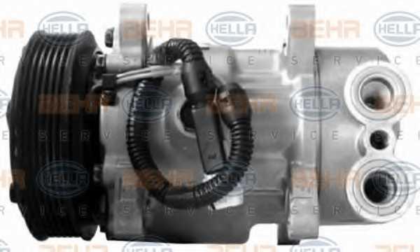 Компрессор кондиционера для PEUGEOT 206(2A/C,2D,2E/K) <b>HELLA BEHR SERVICE Version ALTERNATIVE 8FK 351 134-661</b> - изображение 3