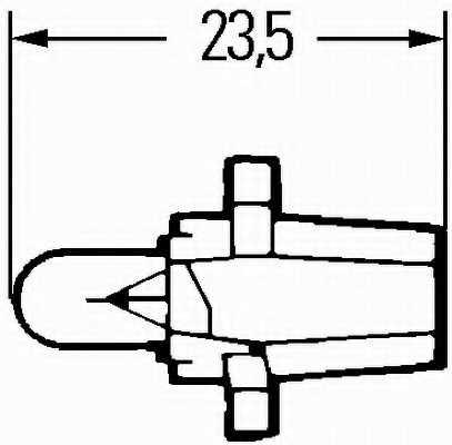 Лампа накаливания 12В 1.2Вт HELLA 8GA 007 997-051 - изображение 1