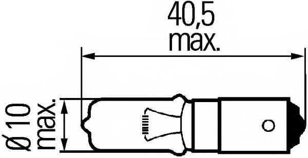 Лампа накаливания H21Вт 12В 21Вт HELLA 8GH 008 417-001 - изображение 1