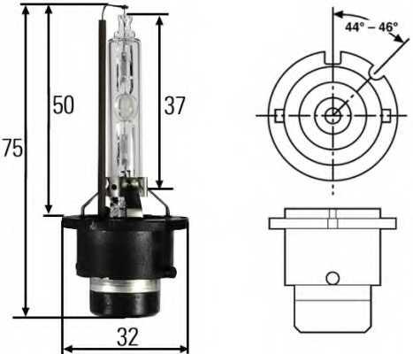 Лампа газоразрядная(ксеноновая) D2S 12В 35Вт HELLA 8GS 007 949-261 - изображение