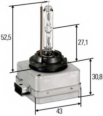 Лампа накаливания HELLA D1S / 8GS 009 028-111 - изображение