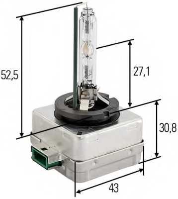Лампа газоразрядная(ксеноновая) D3S 12В 35Вт HELLA 8GS 009 028-311 - изображение