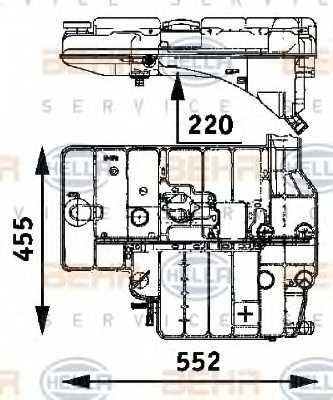 Расширительный бачек охлаждающей жидкости HELLA 8MA 376 705-191 - изображение