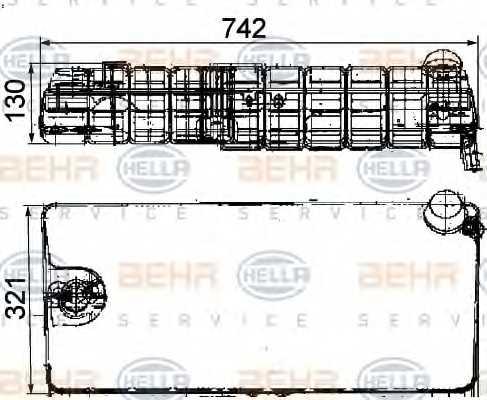 Расширительный бачек охлаждающей жидкости HELLA 8MA 376 705-251 - изображение