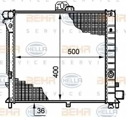 Радиатор охлаждения двигателя HELLA 8MK 376 708-781 - изображение