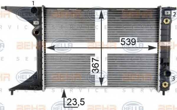 Радиатор охлаждения двигателя HELLA 8MK 376 718-651 - изображение