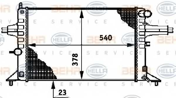 Радиатор охлаждения двигателя HELLA 8MK 376 720-421 - изображение