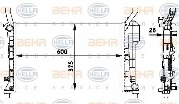 Радиатор охлаждения двигателя HELLA 8MK 376 721-021 - изображение