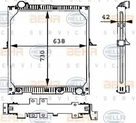 Радиатор охлаждения двигателя HELLA 8MK376721-141 - изображение