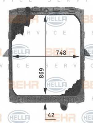 Радиатор охлаждения двигателя HELLA 8MK 376 721-501 - изображение