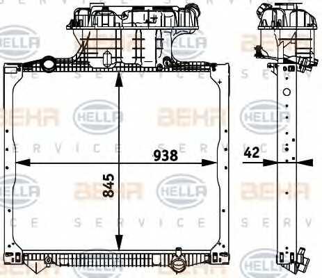 Радиатор охлаждения двигателя HELLA 8MK 376 728-661 - изображение