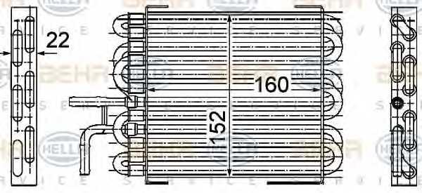 Топливный радиатор HELLA 8MK 376 745-061 - изображение