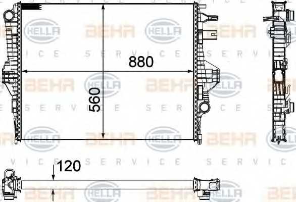 Радиатор охлаждения двигателя HELLA 8MK 376 756-341 - изображение
