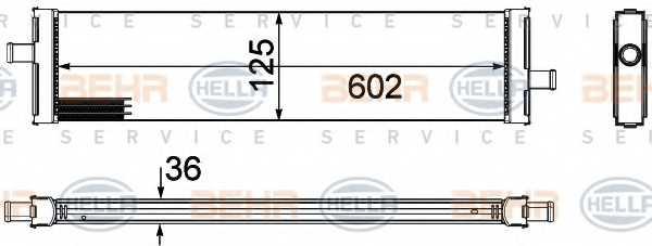 Радиатор охлаждения двигателя HELLA 8MK376756-381 - изображение