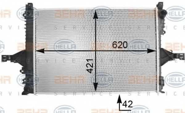 Радиатор охлаждения двигателя HELLA 8MK376774-231 - изображение