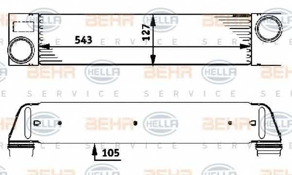 Интеркулер HELLA 8ML376723-451 - изображение