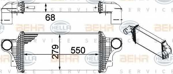 Интеркулер HELLA 8ML 376 754-621 - изображение