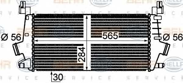 Интеркулер HELLA 8ML 376 777-261 - изображение 1