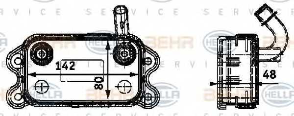 Масляный радиатор масла двигателя HELLA 8MO 376 726-151 - изображение