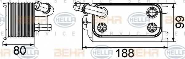 Масляный радиатор АКПП HELLA 8MO 376 747-161 - изображение
