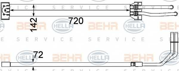 Масляный радиатор рулевого управления HELLA 8MO 376 756-371 - изображение