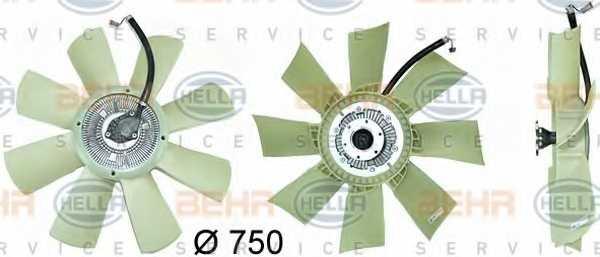Вентилятор охлаждения двигателя HELLA 8MV 376 729-431 - изображение