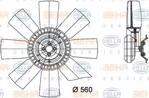 Вентилятор охлаждения двигателя HELLA 8MV 376 731-101 - изображение