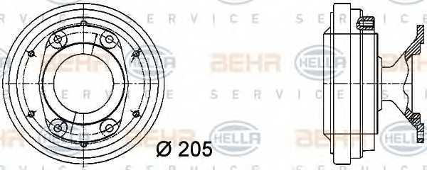 Сцепление вентилятора радиатора HELLA 8MV 376 731-291 - изображение