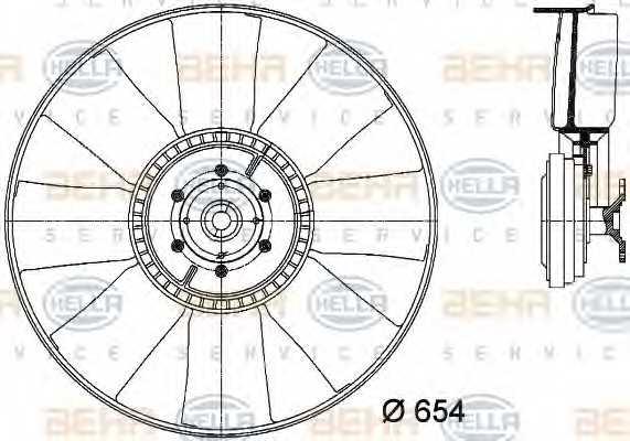 Вентилятор охлаждения двигателя HELLA 8MV 376 731-381 - изображение