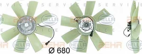 Вентилятор охлаждения двигателя HELLA 8MV376731-471 - изображение