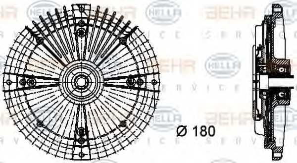 Сцепление вентилятора радиатора HELLA 8MV 376 732-471 - изображение