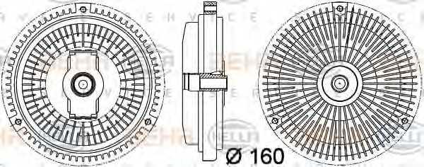 Сцепление вентилятора радиатора HELLA 8MV 376 757-341 - изображение